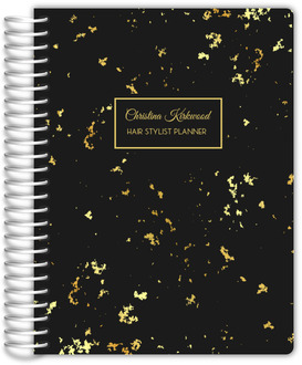 Spotted Gold Texture Hair Stylist Planner