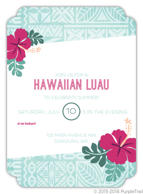 Luau Party FIll In The Blank Invite