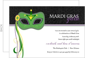 Decorative Mask Mardi Gras Invitation