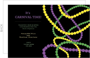 Mardi Gras Beads Invite