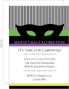 It s Carnival Time Mardi Gras Invite