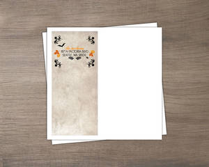 Black And Orange Foliage Halloween Envelope