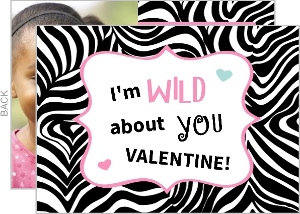 Zebra Heart Valentine S Day Card