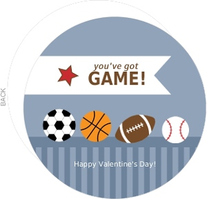 Sports Balls And Stripes Valentines Day Card