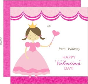 Pink Princess Valentine S Card