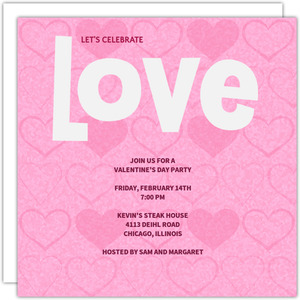 Love Celebration Invitation