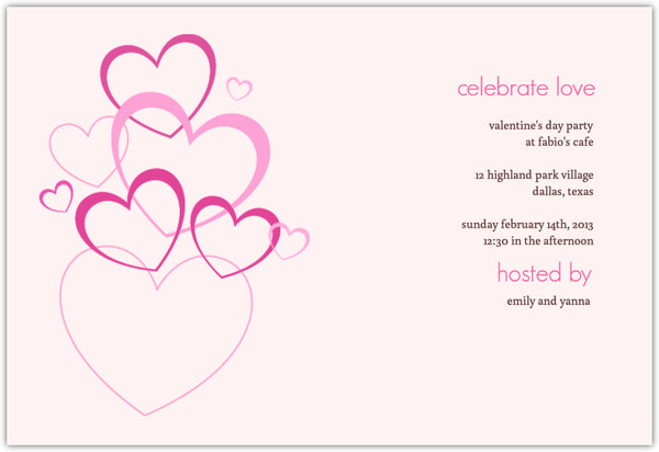 Love Bubbles Valentine S Day Invitation  Valentines Day Invitations