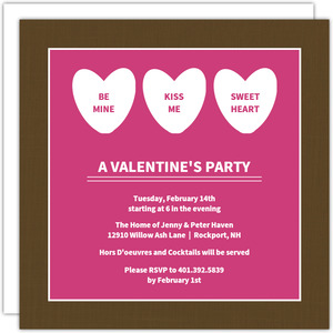 Sweet Candy Hearts Valentine S Day Party Invitation