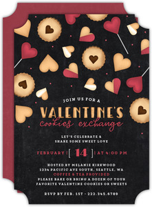 Valentines Cookie Exchange Party Invitation