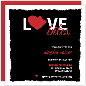 Love Bites Valentine S Day Party Invitations