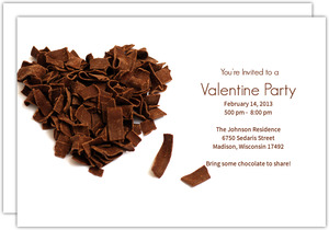 Chocolate Valentine Invite