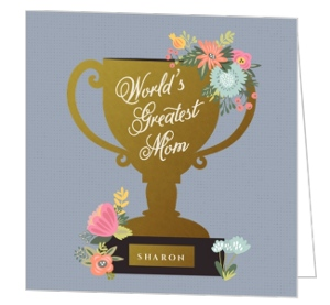 World's Greatest Trophy Mothers Day Card