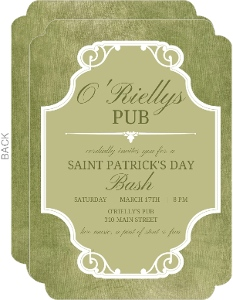 Vintage Frame St Patricks Day Invitation