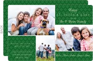 Irish Family St Patricks Day Card