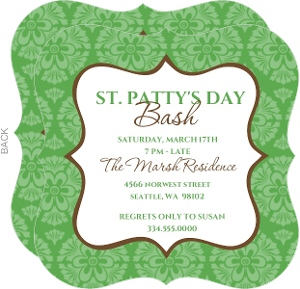 Celebrating St Patrick S Day Bash Invite