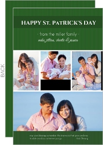 Green Stripe St Patricks Day Card