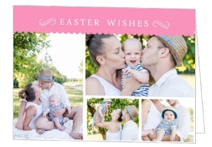 Pink Scallop Formal Easter Card
