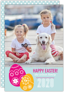 Embellished Easter Eggs Easter Card