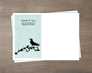 Rustic Black Vines and Crow  Halloween Custom Envelope