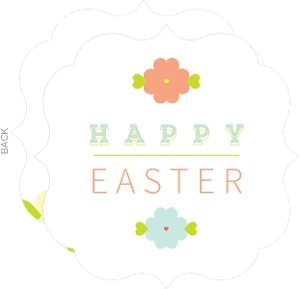 Pastel Flowers Easter Card