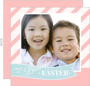 Easter Banner Striped Card