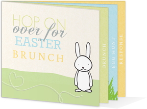 Easter Bunny Booklet Brunch Invitation