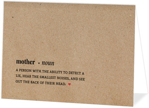Mom Definition Mothers Day Card