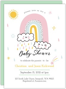 Vegas Style Baby Gender Reveal Party Invitation