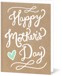 Handwritten Mother's Day Card