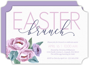 Elegant Lavender Floral Easter Brunch Invitation