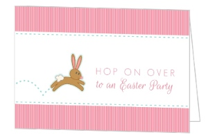 Hopping Bunny Easter Party Invitation