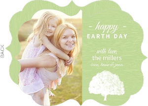 Green Wood Texture Earth Day Card