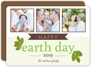 Green Leaves Earth Day Card