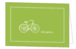 Ride Green Bicycle Earth Day Card