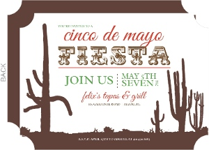 Desert Scene Cinco De Mayo Invitation