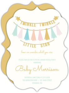 Twinkle Twinkle Little Baby Gender Reveal Party Invitation