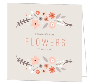 Whimsy Floral Frame Mothers Day Card