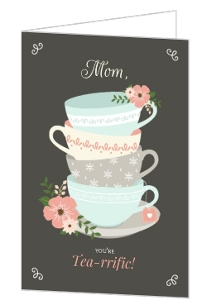 Charming Tea Cups Mothers Day Card