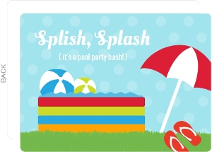 Blue Kiddie Pool Party Invite
