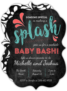 Making a Splash Pool Party Baby Shower Invitation
