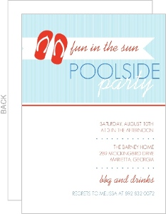 Flip Flop Fun Pool Party Invitation