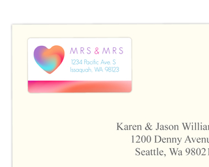 Colorful Gradient Heart Address Label