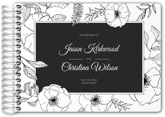 Hand Drawn Floral Wedding Guest Book