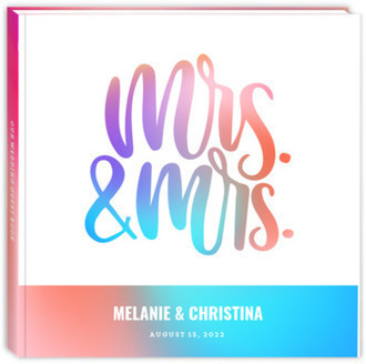 Colorful Gradients Wedding Guest Book