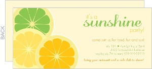 Orange And Green Citrus Sunshine Party