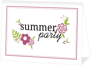Elegant Floral Bunches Summer Party Invitation