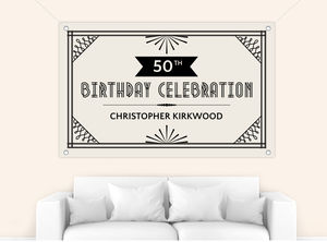 1920S Themed Birthday Banner