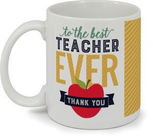 Modern Typography Teacher Coffee Mug