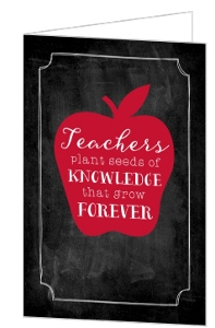 Teachers Knowledge Thank You Card