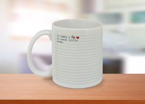 Big Heart To Teach Teacher Coffee Mug